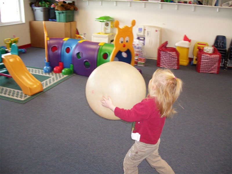 kid playing inside