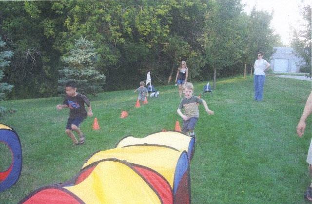 little kids playing